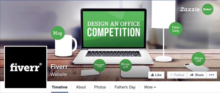 Facebook page Fiverr