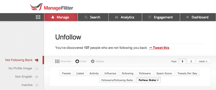 Growth acking Twitter drive traffic site unfollow tool