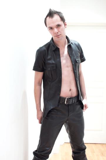 SlaveLDN- Master U leather shirt and trousers Dec 2013