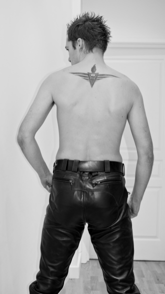 SLDN in Master U Leather Trousers