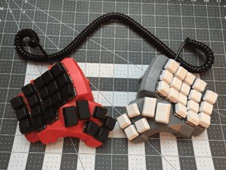 Strange keyboard contraption