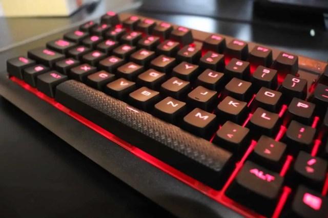 Textured space bar close up
