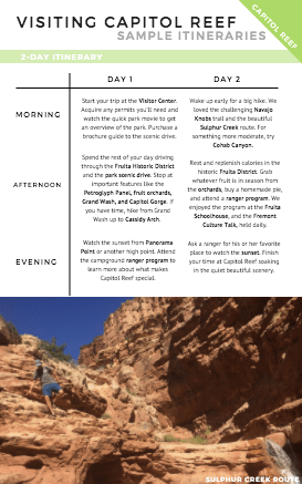 eBook Mini: How to Visit Capitol Reef National Park
