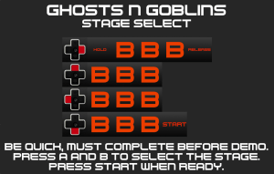 Ghosts n Goblins Stage Select Code