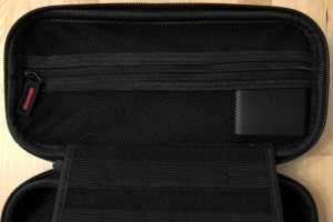 AUKEY PA-Y16 in a Nintendo Switch carrying case.