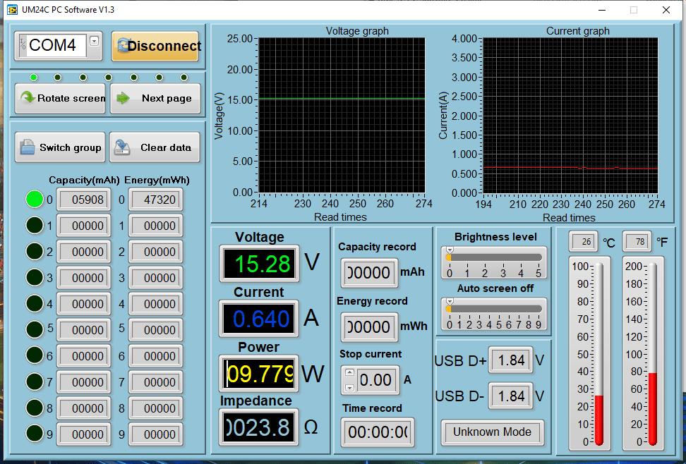 Power meter readings - Switch Sleeping