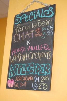 Rabbit Cafe, hot apple cider, Lake City, Minnesota