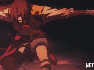 kneeling character from netflix castlevania series
