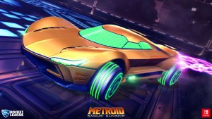 samus' gunship in rocket league
