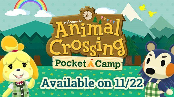 animal crossing pocket camp logo and release date