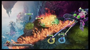 boss battle with four players in nine parchments