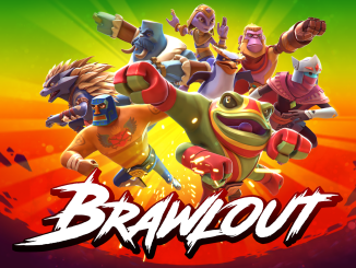 brawlout logo and characters