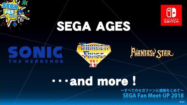 sega ages and game logos