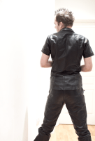 SLDN showing back of Master U trousers and shirt