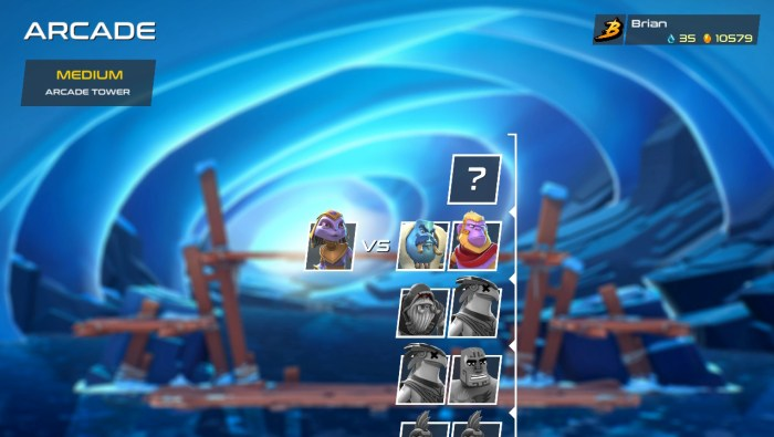 The end of the arcade Tower in Brawlout