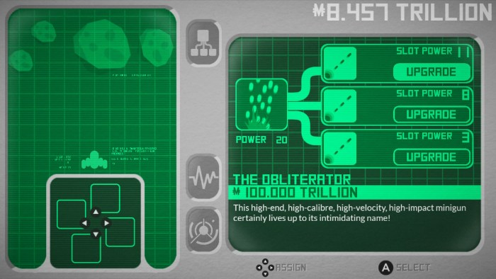 Weapon upgrade screen in Vostok Inc.