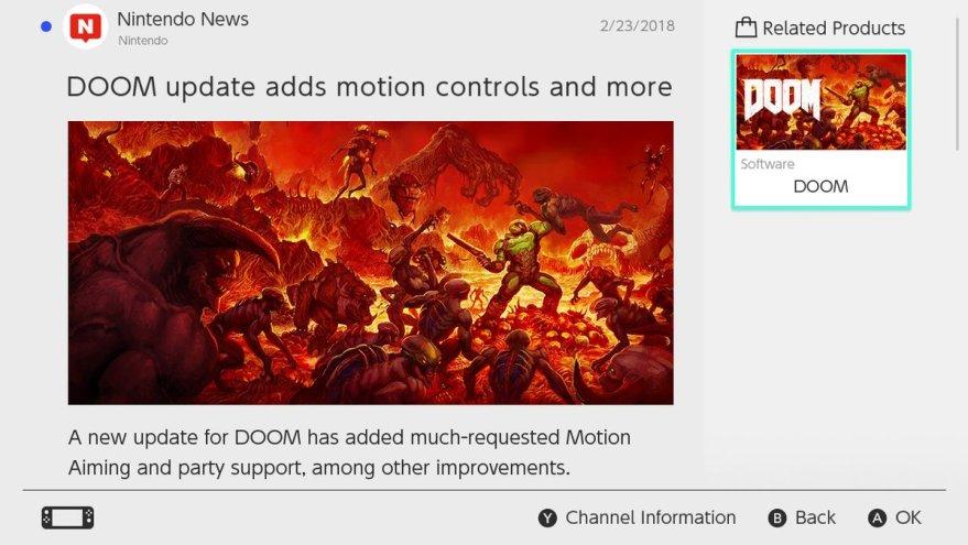 Doom motion controls update