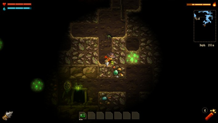 Mining in Steamworld Dig