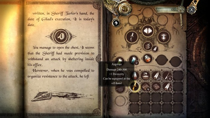 Joe Dever's Lone Wolf Inventory Screen
