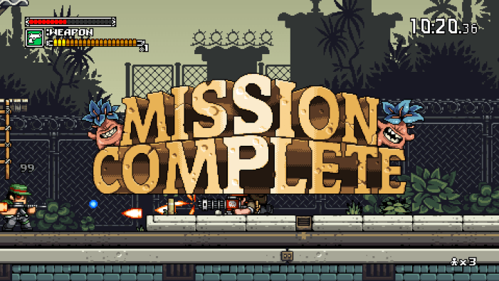 Mercenary Kings Mission Complete Screen