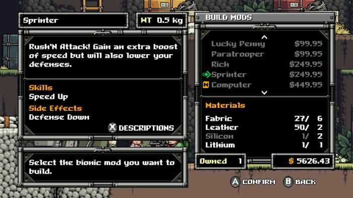 Mercenary Kings Sprinter Mod