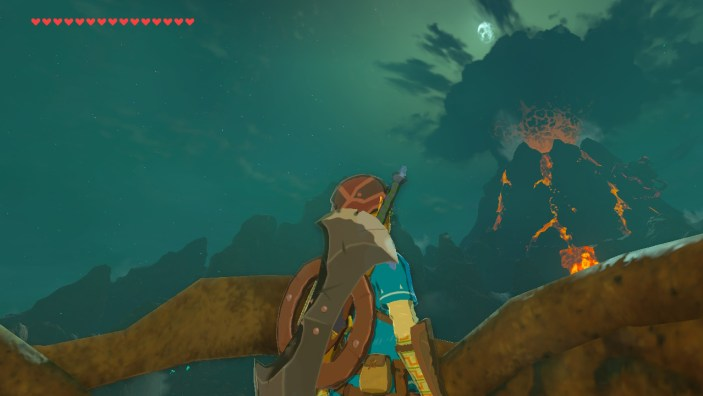 Link looking at Death Mountain
