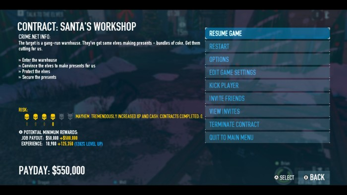 Payday 2 Santa's Workshop