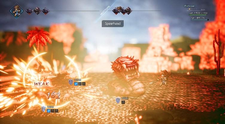 Octopath Traveler attack