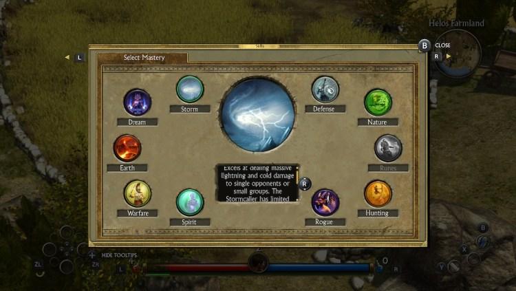 Titan Quest Masteries