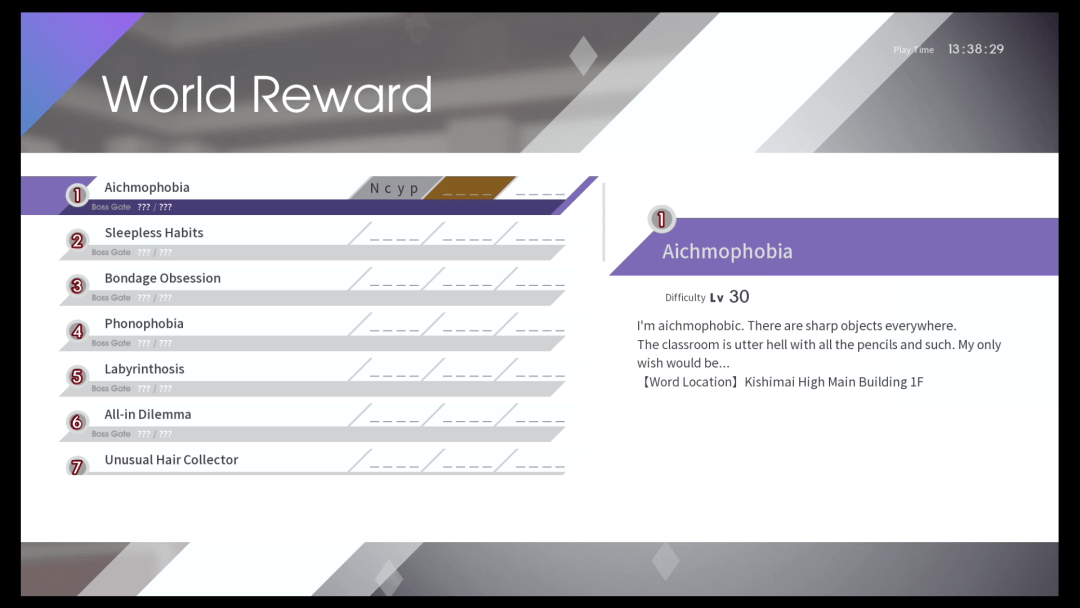 Caligula effect World reward