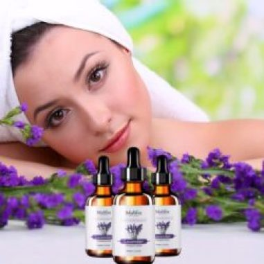 Lady with Lavender Oil for body odor