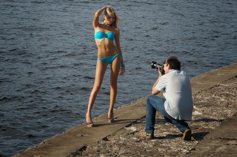 russian bikini model in St. Petersburg