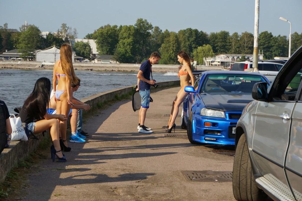 high heeled russian bikini models