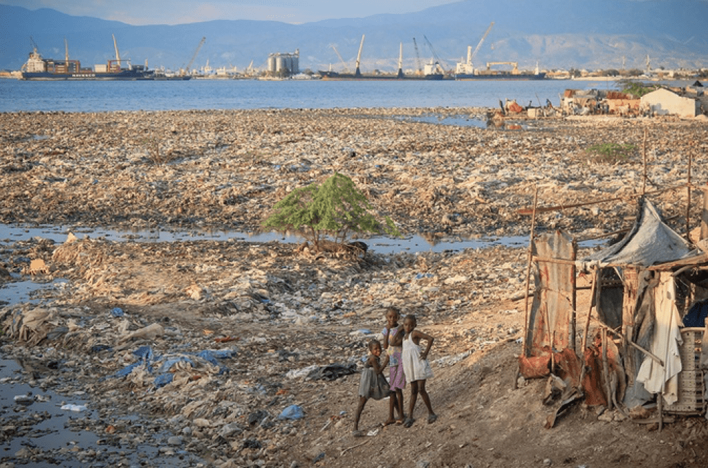 """""""Beaches"""" like this one in Haiti will not fix themselves. And it's only going to get worse unless we all start thinking differently about business, the planet, and how our kids will live. Credit Norton Point"""