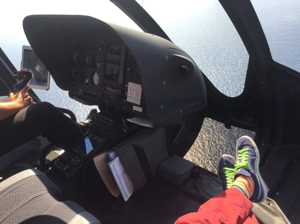 A private helicopter ride out of Monaco provides a killer view and legroom too.