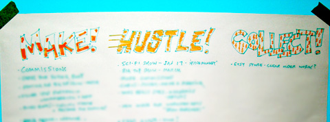 Make! Hustle! Collect! 2014's Swizzle Studio mission statement.