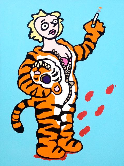 "Tigress. 30""x40"", acrylic on canvas, 2015. $600"