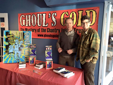 Doug Archer and Rob Elliott, ready to autograph your copies of Ghoul's Gold.