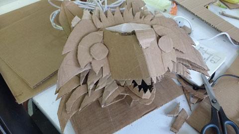 Cardboard racoon.