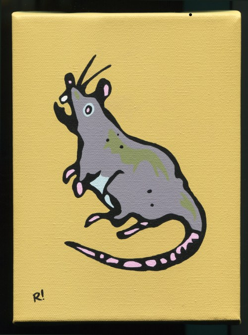 rat painting Rob Elliott