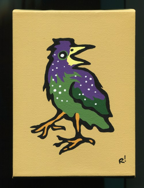 Starling painting by Rob Elliott