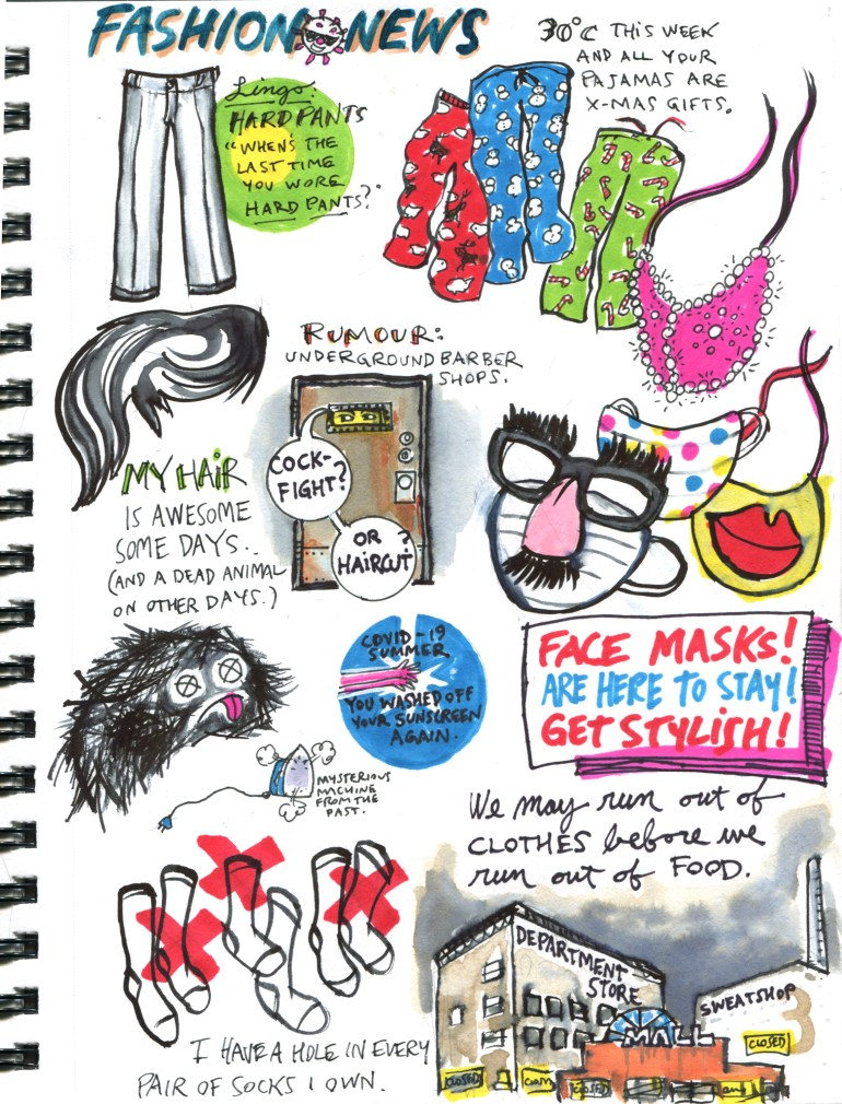My Pandemic Diary page 50 Fashion news