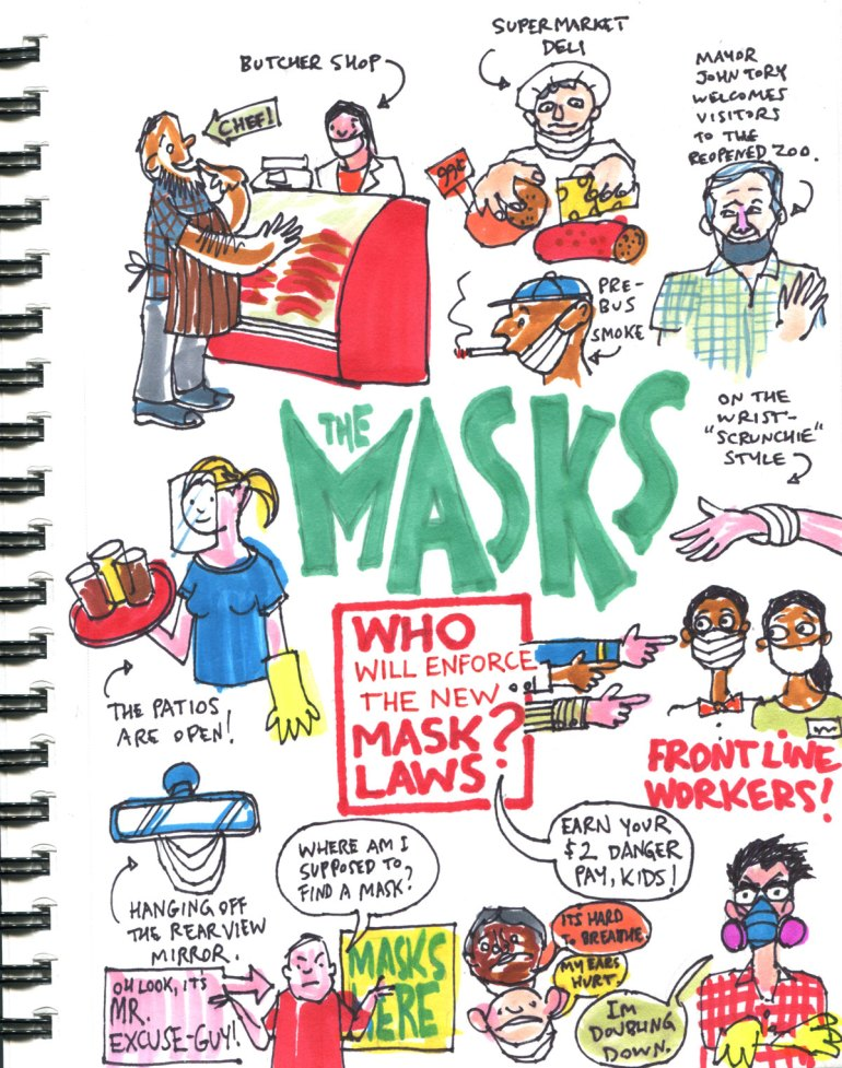 My Pandemic Diary part 2 page 4 The Masks