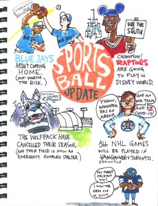 My Pandemic Diary 2 page 7: Sports Ball update