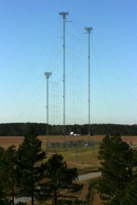 The giant slewable curtain antenna