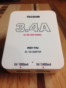 The supplied Tecsun PL-880 charger/power supply (Click to enlarge)