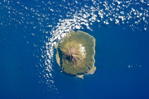 Tristan da Cunha on 6 February 2013, as seen from the International Space Station (Source: Wikipedia)