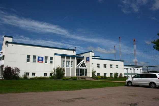 The transmitter building of Radio Canada International, Sackville, NB.