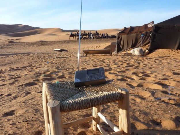 Tecsun PL-380 in the Morocco desert.