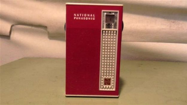 Very popular in their day, the RED National Panasonic pocket AM Transistor 6. Works well.